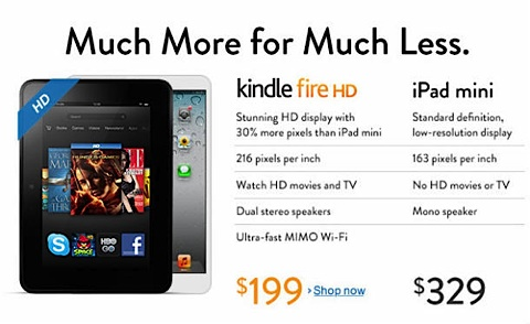 amazon kindle ipad mini