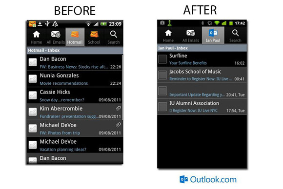 Outlook f�r Android