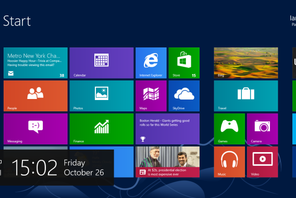 startsk�rmen windows 8