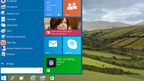 Nya bilder p� Windows 10 l�ckta