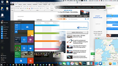 Windows 10 vs OS X El Capitan