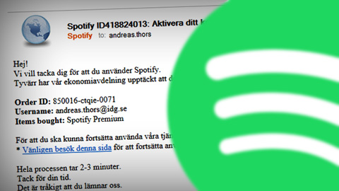 Spotify phishing