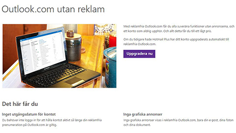 Så slipper du reklamen i Outlook